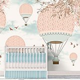Wall Murals: Pink balloons in the sky 2