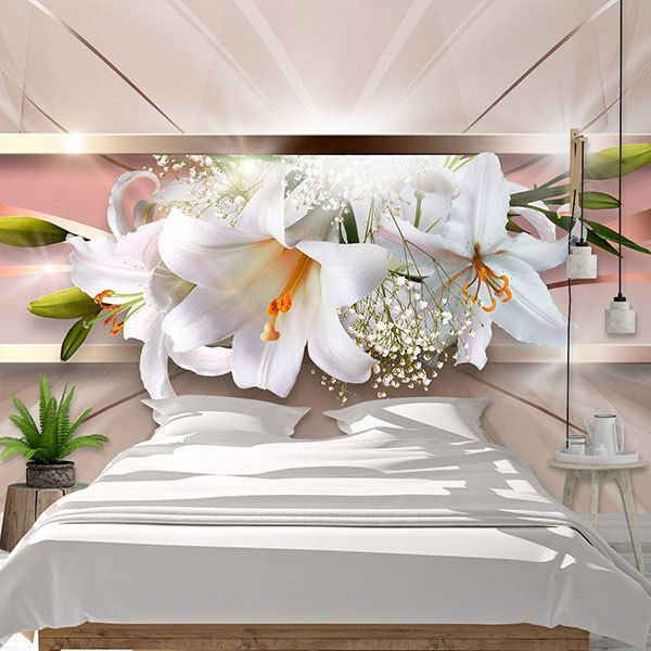 Wall Murals: Panoramic floral composition 0