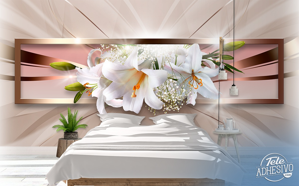 Wall Murals: Panoramic floral composition