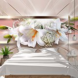 Wall Murals: Panoramic floral composition 2