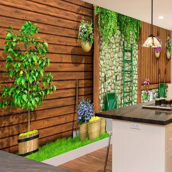 Wall Murals: Gardening Day 0