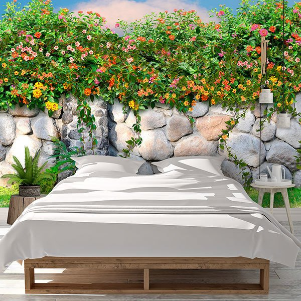 Wall Murals: Wall of flowers 0