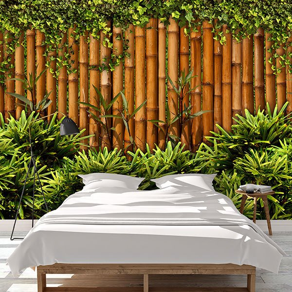 Wall Murals: Bamboo Fence 0
