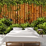 Wall Murals: Bamboo Fence 2