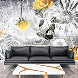 Wall Murals: Collage floral city 2