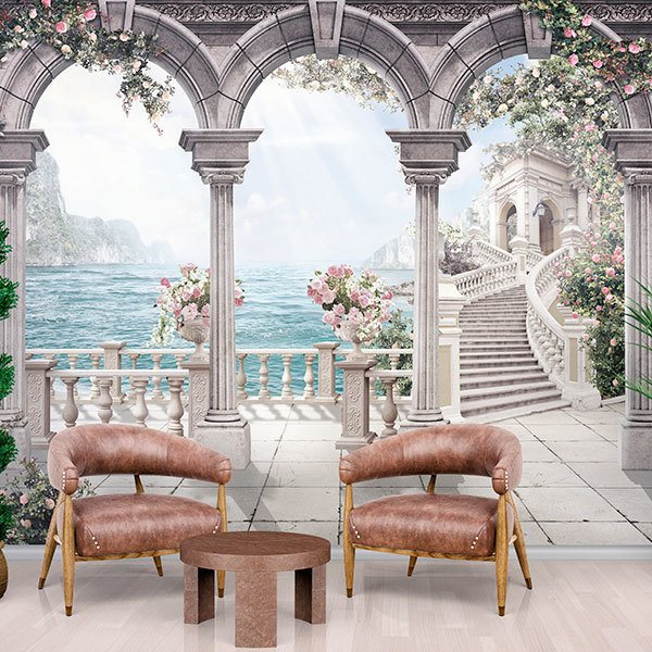 Wall Murals: Patio of roses 0