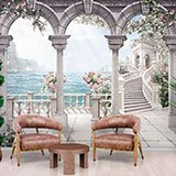 Wall Murals: Patio of roses 2