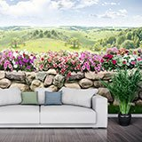Wall Murals: The wall of flowers 2