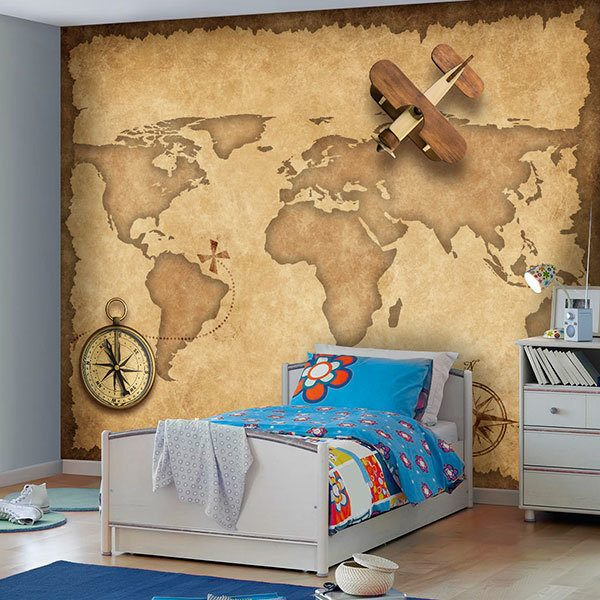 Wall Murals: Flying over the world