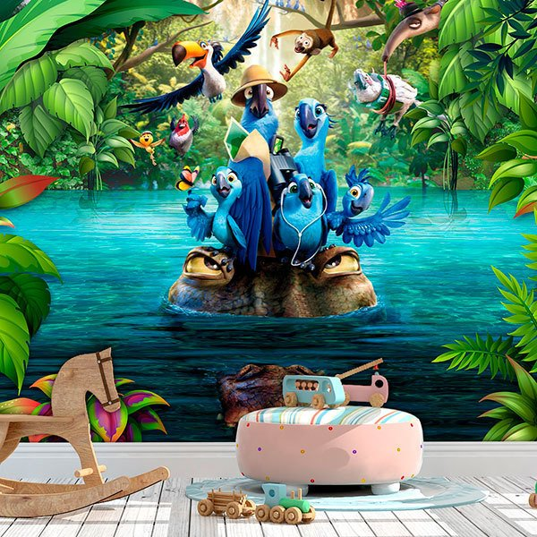 Wall Murals: Macaws of Rio 0