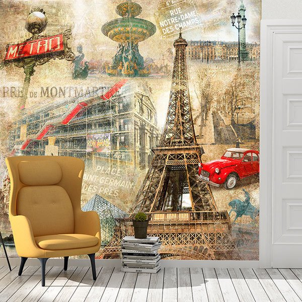 Wall Murals: Collage of Paris 0