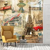Wall Murals: Collage of Paris 2