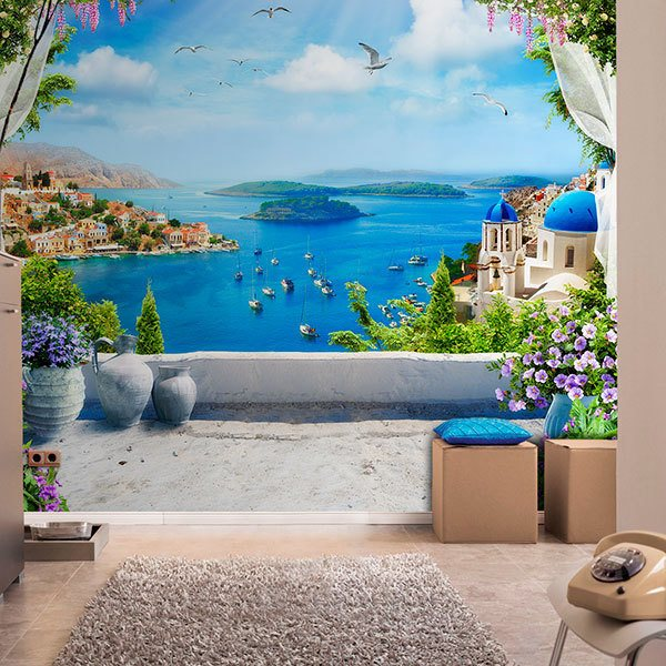 Wall Murals: Balcony to the Aegean 0
