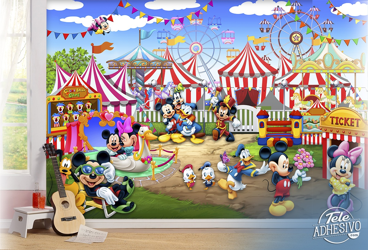 Wall Murals: Disney Amusement Park