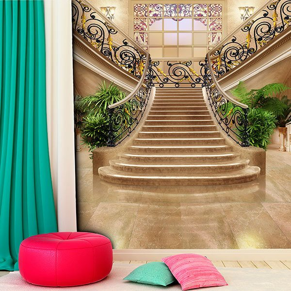 Wall Murals: Stairs of a great hotel 0