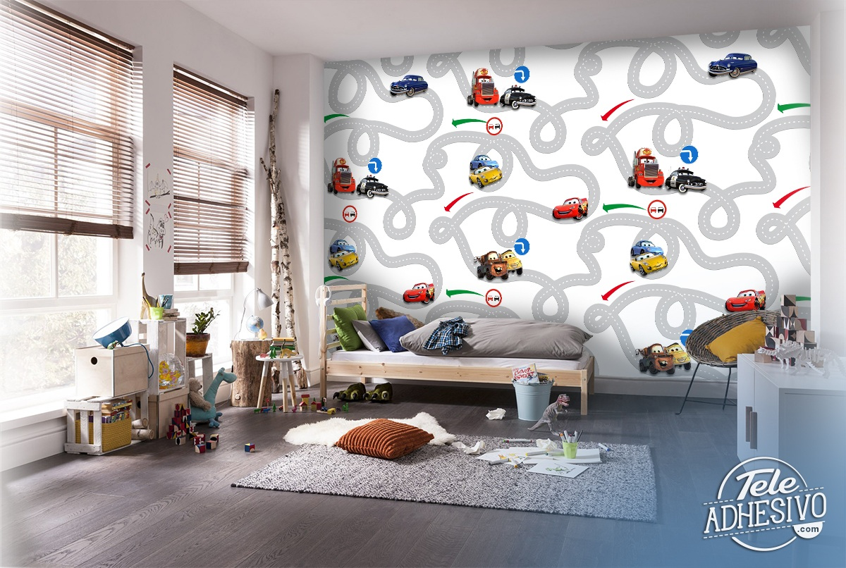 Wall Murals: Circuit Cars, Disney