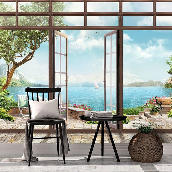 Wall Murals: Viewpoint to the great lake