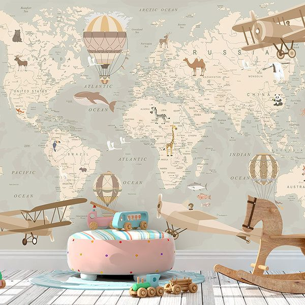 Wall Murals: Adventurer's World Map