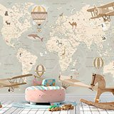 Wall Murals: Adventurer's World Map 2