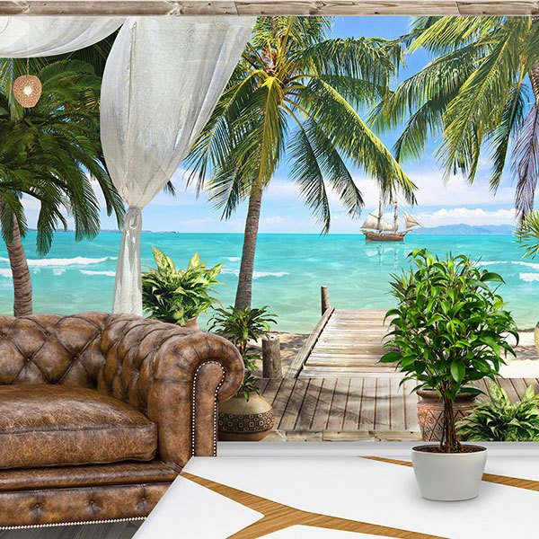 Wall Murals: Panoramic view of paradise