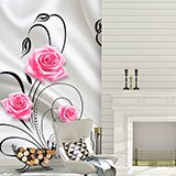 Wall Murals: Roses among ornaments 2