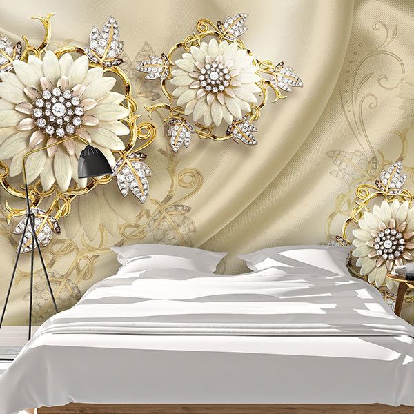 Wall Murals: Diamond flowers