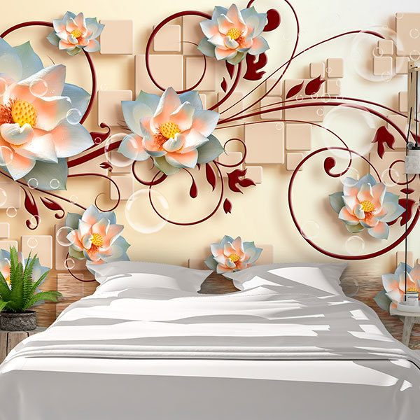 Wall Murals: Sacred Lotus Flowers 0
