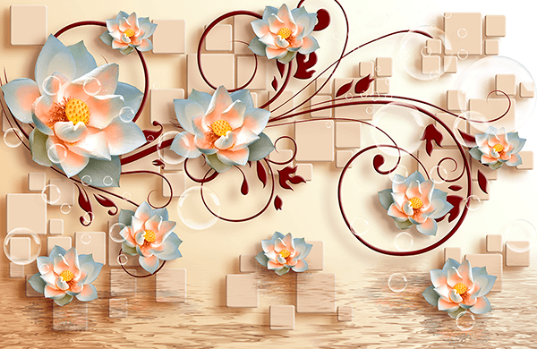 Wall Murals: Sacred Lotus Flowers