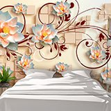 Wall Murals: Sacred Lotus Flowers 2