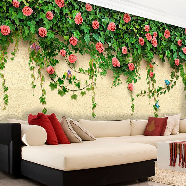 Wall Murals: Ivy and roses 0