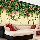 Wall Murals: Ivy and roses 2