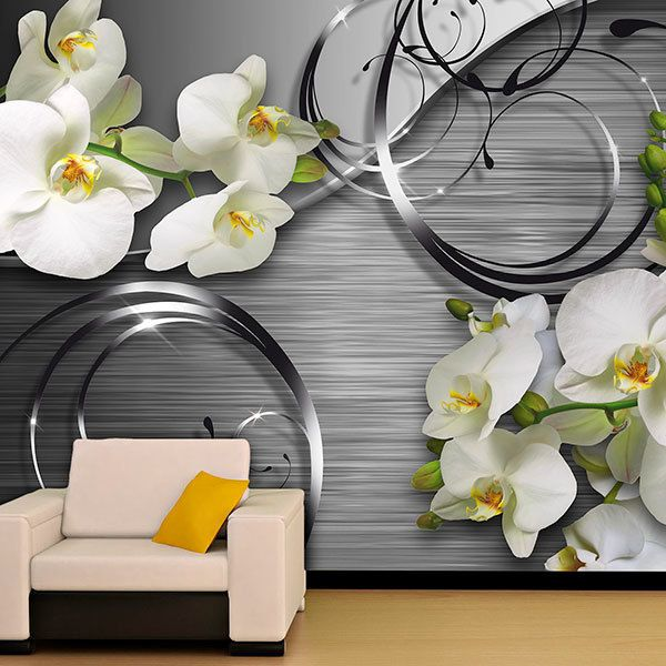 Wall Murals: Orchids on metal 0