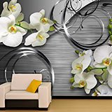 Wall Murals: Orchids on metal 2