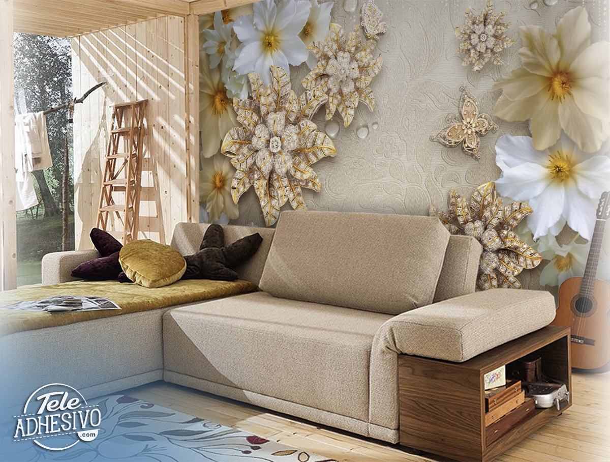 Wall Murals: Floral jewellery