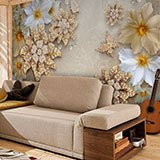 Wall Murals: Floral jewellery 2
