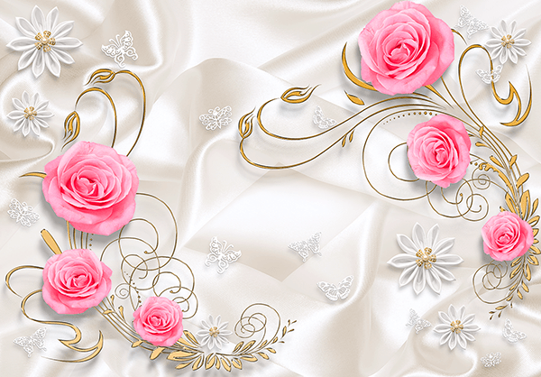 Wall Murals: The bride's roses