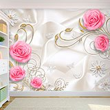 Wall Murals: The bride's roses 2