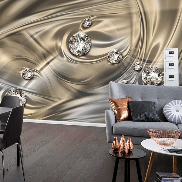 Wall Murals: Diamonds in cast silver