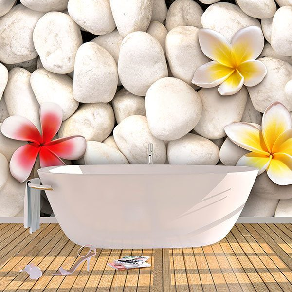 Wall Murals: Lilium on stones