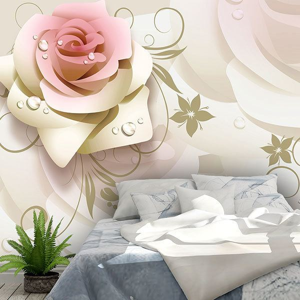 Wall Murals: Illustrated Roses 0