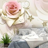 Wall Murals: Illustrated Roses 2