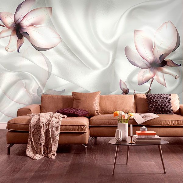 Wall Murals: Flowers among silks 0