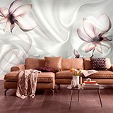 Wall Murals: Flowers among silks 2