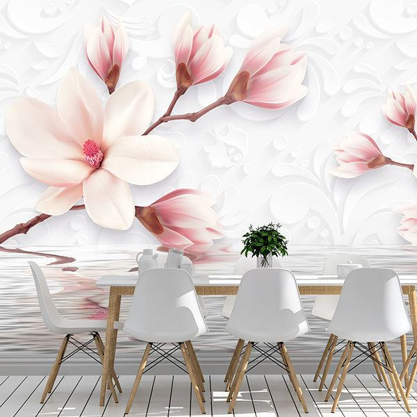 Wall Murals: Flowers sprouting from the water 0