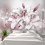 Wall Murals: Bouquet of grey lilies 2