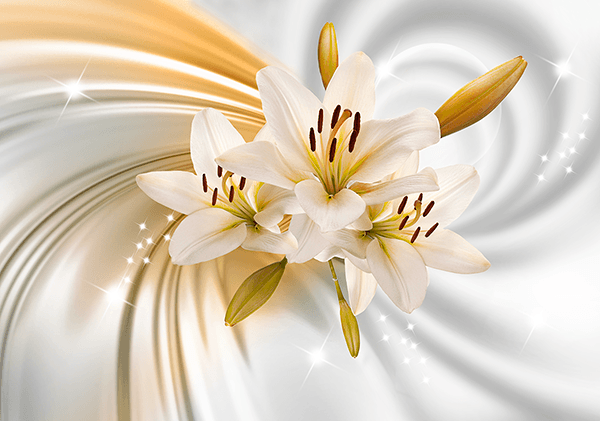 Wall Murals: Purity Flower