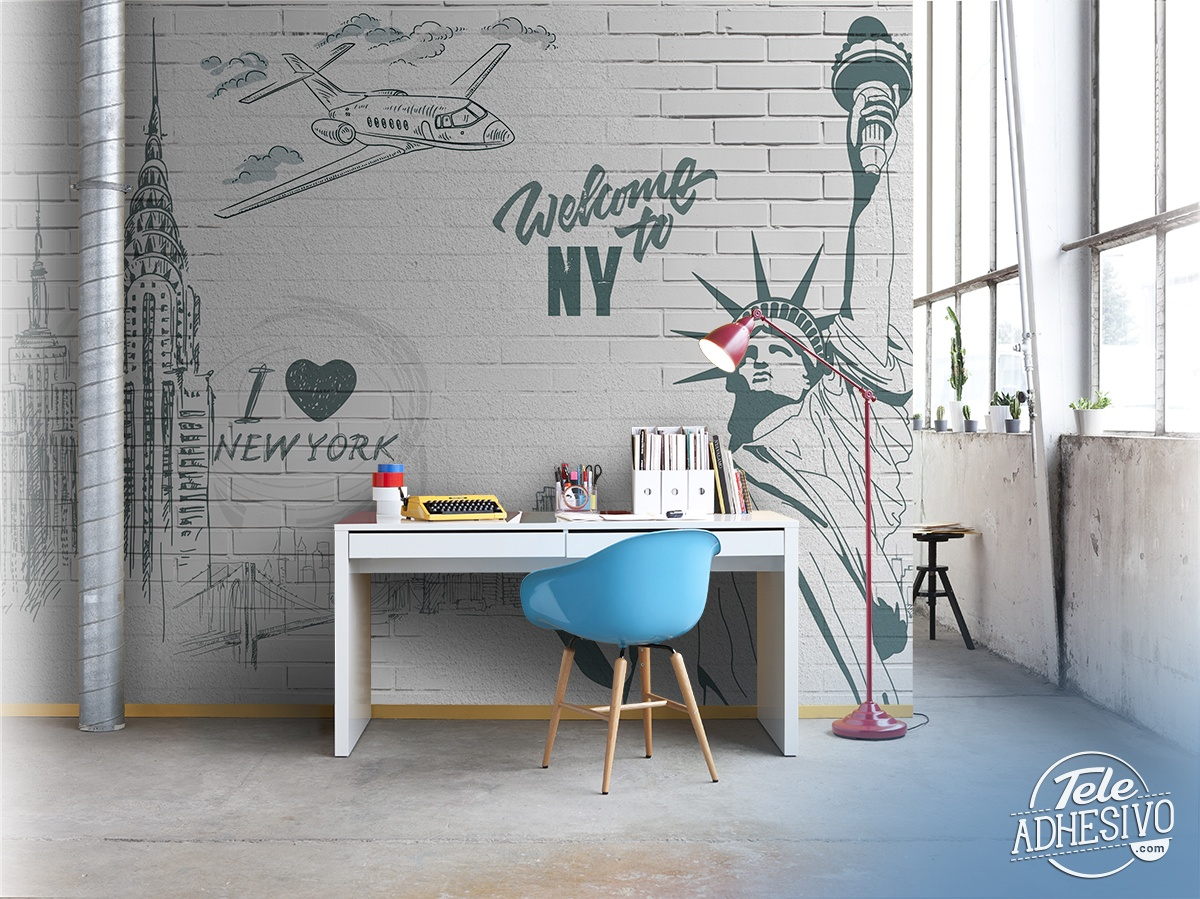 Wall Murals: I Love & Welcome to NY
