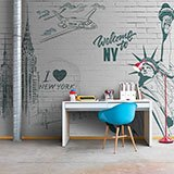 Wall Murals: I Love & Welcome to NY 2