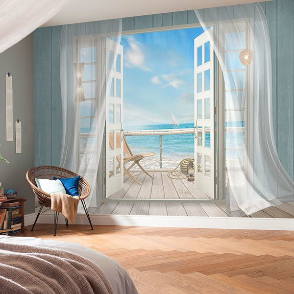 Wall Murals: Cottage on the seashore