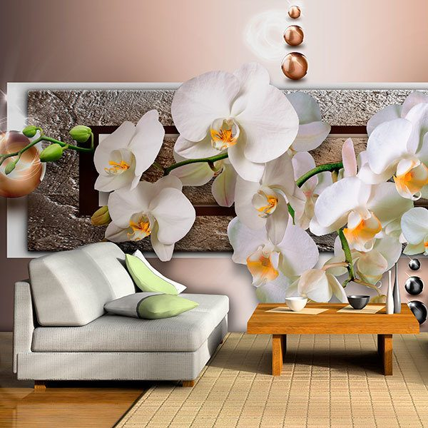 Wall Murals: Orchids behind the mailbox